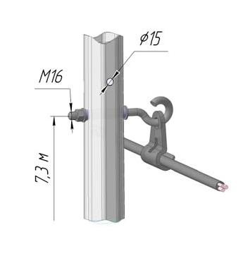 Схема установки крюк-болта в ОГКвл